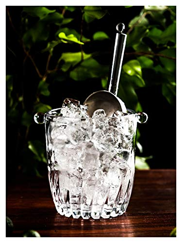 YEZIB Cubo de Hielo Cubo de Hielo Cubo de Hielo Barmet Champagne Barra de Cubo con Clip de Hielo para Fiestas, Bar y Bar.
