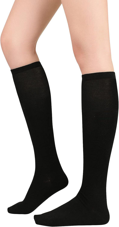 Knee High Socks for Women Leg Warmers Sports Athletic Tube Socks Striped Thigh High Stockings Cosplay