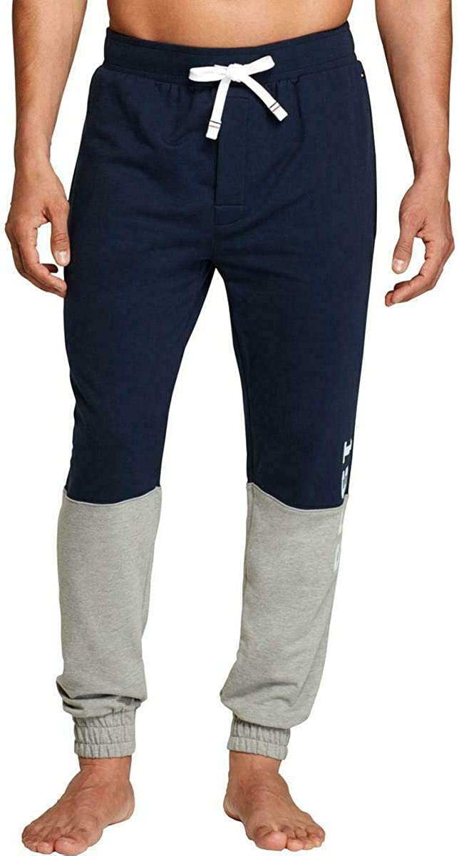 Tommy Hilfiger Mens Colorblock Large discharge sale Max 76% OFF Drawstring Pants S Blue Jogger