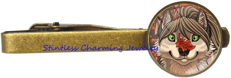 Wolf Head Tie Clip,Wolf Tie Pin,Unique Wolf Tie Clip,Popular Wolf Tie Clip,Wolf Men Tie Pin,Animal Tie Clip,Wolf Charm-JV114