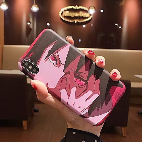 Tmrtcgy Luxury Japan Anime Naruto Sasuke Kakashi Case para iPhone 11 12 Pro XS MAX 7 8 Plus XR Funda de teléfono Dibujos Animados Soft Silicon Cover (Color : H, Size : Iphone11 Pro)