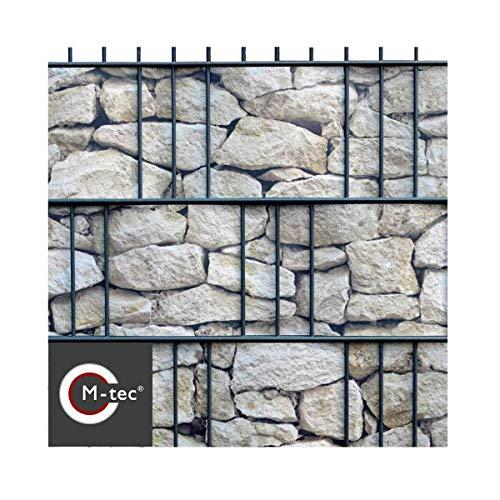 M-tec Print® Hart-PVC | Formstabile Sichtschutzstreifen mit Motiv - Sandstein Toscana für 9 Reihen im Zaunfeld M-tec Marktneuheit 2018 - SIE KAUFEN Hier DIREKT BEIM Hersteller –