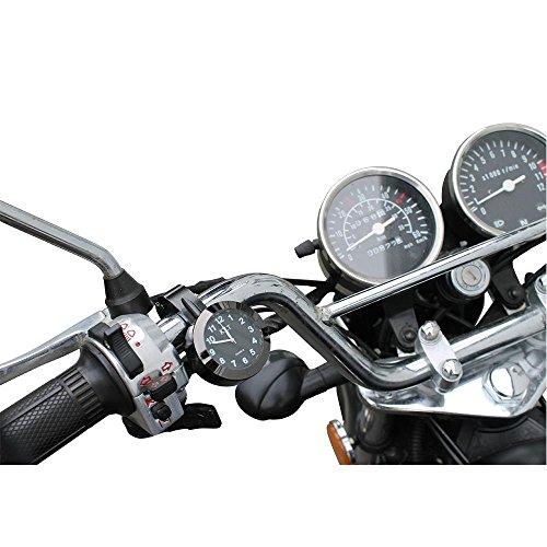 Motorraduhr Lenker Uhr schwarz Motorräder Uhren Lenkerhalterung universal
