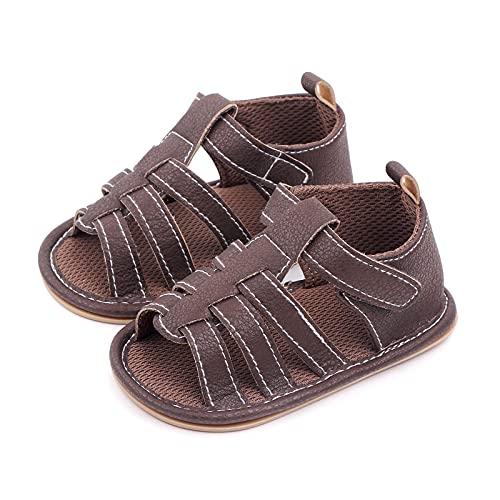 Leyeet Sandalias para bebé y niña, transpirables, antideslizantes, con puntera abierta, para primeros caminantes de 0 a 1 años