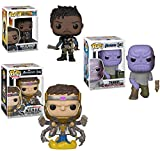 The MCU's Greatest Villains Exclusive Marvel Funko Pack: Thanos 592 (Convention Exclusive Missing Arm), Erik Killmonger 278, M.O.O.D.O.K. 633 Gamerverse 3 Pack Pop! 3 Pack