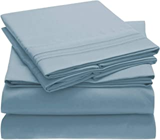 Mellanni Queen Sheets - Hotel Luxury 1800 Bedding Sheets & Pillowcases - Extra Soft Cooling Bed Sheets - Deep Pocket up to...