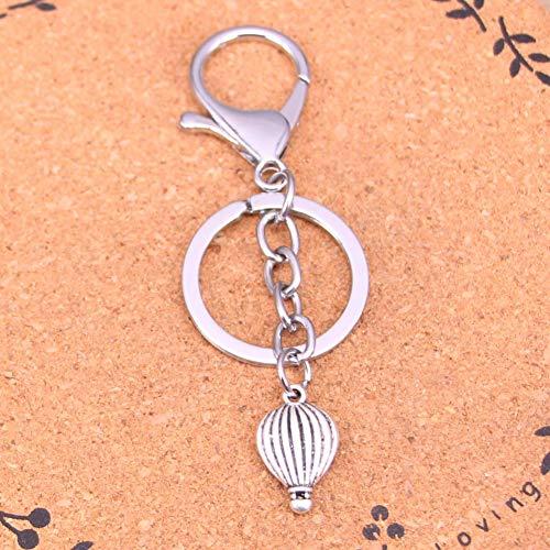 YCEOT verchroomde metalen sleutelhanger voor het beste cadeau vuur ballon sleutelhanger antieke Ailver hanger
