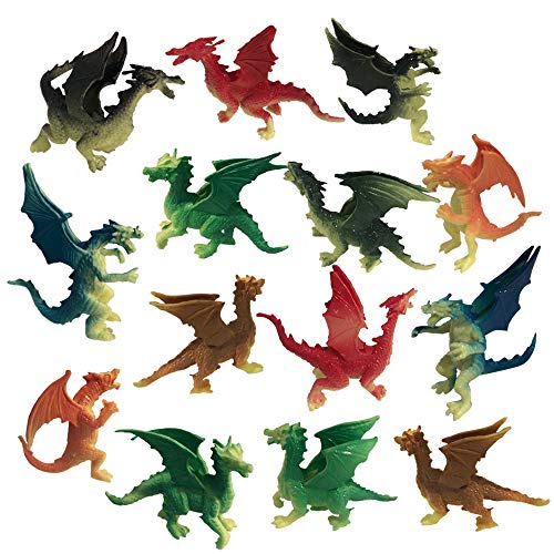ArtCreativity Mini Dragons, Pack of 24, Colorful Assorted Designs,...