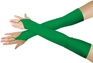 SHINNINGSTAR Girls' Boys' Adults' Stretchy Lycra Fingerless Over Elbow Cosplay Catsuit Opera Long Gloves