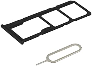 MMOBIEL Dual SIM Card Tray Compatible with Samsung Galaxy A51 A515 / A71 A715 (Prism Crush Black) incl Rubber Ring