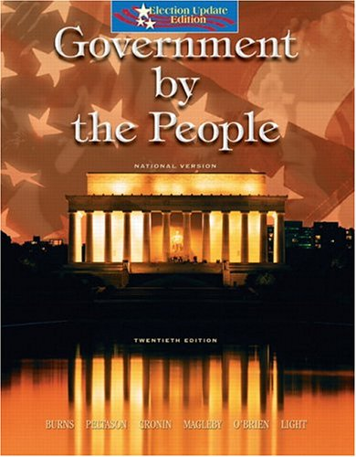 Government By the People - National Version, Election Update (20th Edition)