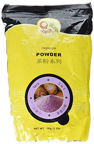 "Qbubble Taro Flavor ""3 in 1"" Bubble Tea Powder - 2.2 Lb"