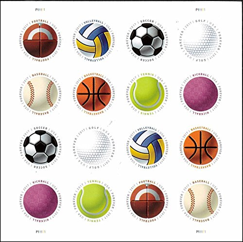 Have a Ball USPS Forever Stamps (1 Sheet of 16 Stamps)