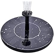 Gocheer 1.4w Solar Water Fountain Pump Floating Solar Panel with 4 Spray Heads for Different Water Flows, Perfect for Bird Bath, Small Pond and Fish Tank