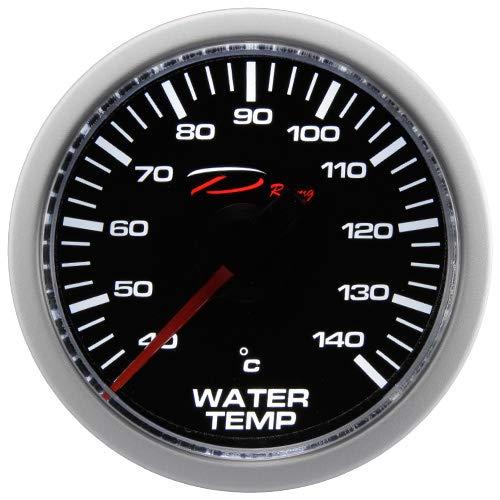 CarLab Jauge de température de l'eau 52 mm 40–140 C D Racing LED Blanc électrique Temp kit Complet