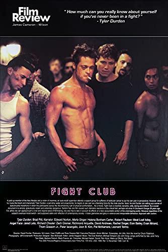 1art1 Fight Club - Brad Pitt, Collezione Rassegna Cinematografica (Scena di Lotta) Poster Stampa (91 x 61cm)
