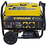 Firman P03608 4550/3650 Watt Remote Start Gas Portable Generator CARB Certified with Wheel Kit, Yellow