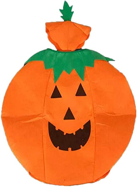 WOWOSS 3 Pcs Halloween Adult Pumpkin Costume Cosplay Clothes Suit with Pumpkin Hat /& Orange Bag for Funny Party Dress Up