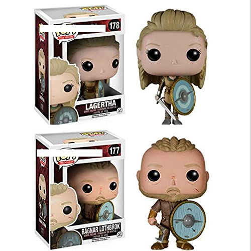 Figuras Pop Anime Vikings Lagertha 178 # Ragnar Lothbrok 177 # Figura De Acción De Vinilo Decoración Colección De Juguetes Regalo para Niños 10Cm