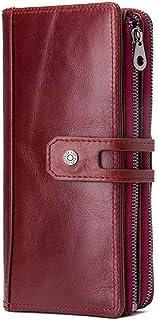 GUMAOPAJIAAAqb Monederos de Mujer, Genuine Leather Women Wallets Fashion Ladies Long Clutch Wallet Zipper Design Coin Purs...