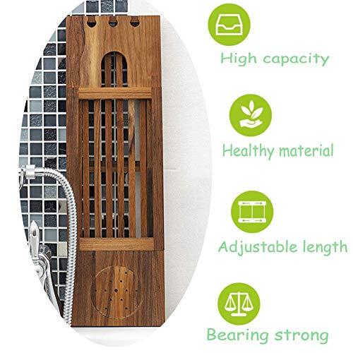 XXIOJUN-Badewanne Caddy Früher Badewannenablage Bambus Lattenrost Einstellbar Multifunktionskartensteckplatz Bücherregal Lesen Massivholz (Color : Natural, Size : L-51-84CM W-16CM)