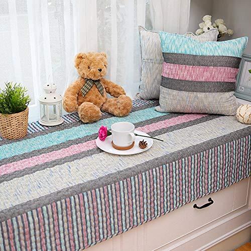 ZTMN vensterbank-bekleding / vensterbank mat van katoen, antislip, kussen voor ramen, stoelovertrekken, kussens voor vensterbanken