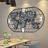 Mappa Del Mondo Orologio Grande Parete Decorativa, Consiglio...