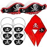 Accesorios de Pirata Para Niños- Captain Costumechildren's Birthday Pirates Birthday Party Juego Decorations Sombrero Pirata, Pirate Hook Earrings, Parche Para Los Ojos Accesorios 10 Pcs