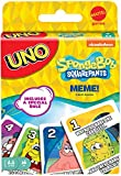 UNO SpongeBob SquarePants Card Game with 112 Cards & Instructions for Players 7 Years Old & Up, Gift for Kid, Family & Adult Game Night