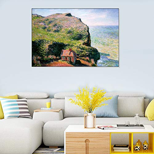 Claude Monet Seascape lienzo pinturas de arte de pared carteles e impresiones cuadros de pared para sala de estar decoración del hogar 40x50 cm 16 'x 20' sin marco