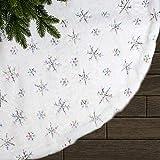 LATH.PIN - Faldas para árboles de Navidad, fiestas de Navidad, fiestas de Navidad, decoración navideña, alfombra de Navidad, de color rojo, verde, blanco, multicolor, M-90 cm
