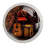 Pomos decorativos redondos para cajones, armarios, escritorios y armarios, colores, tiradores de puerta duraderos para guitarra vaquera