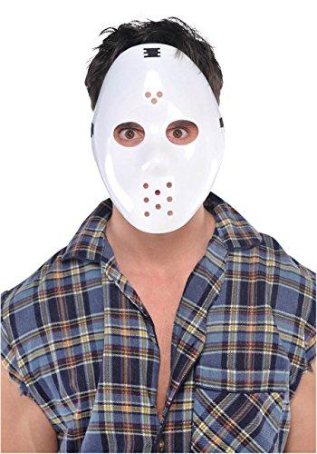 Amscan 840280 White Hockey Horror Mask, 1ct