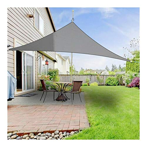MZSC Triangle 300D Wasserdicht Rechteck Markise Sonnenschutz Netto-Sonnensegel Außen Sun Shelter Markise Camping (Color : Grey(2m x 2mX2m))