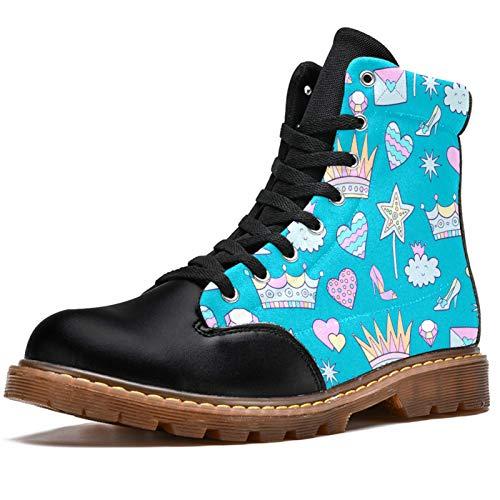 Bennigiry Chica Mariposa Romántica Botas de Invierno Zapatos clásicos de Lona de caña Alta para Mujer