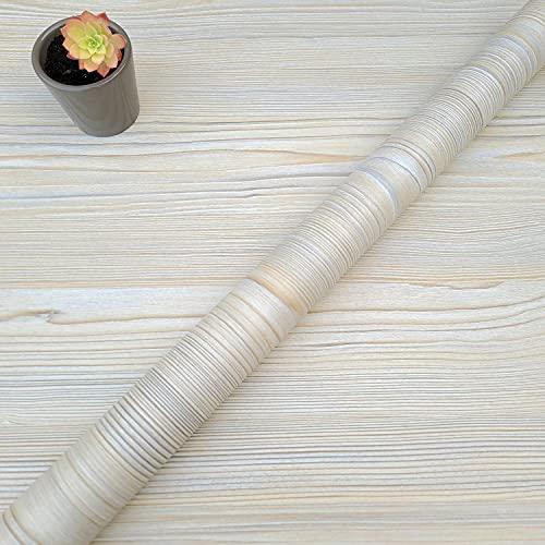 Decorflix Vinilo Papel Adhesivo para Muebles Para forrar amarios mesas estanterías paredes puertas. Vinilo Imitacion Madera Vintage Decorativo Autoadhesivo (Beige Pino Vintage, 60x300cm)