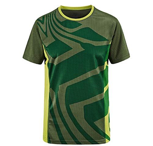 pour des Hommes Gym T-Shirt D'entraînement Dessus à Séchage Rapide Respirant Manches Courtes Wicking Fitness Soie De Glace Col Rond T-Shirt De Course Été T-Shirt De Sport,D,3XL