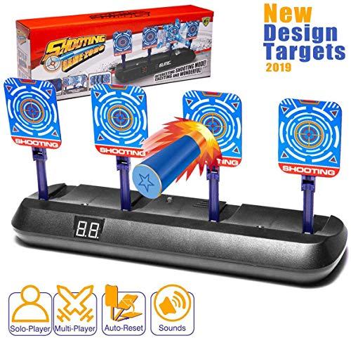 Masstimo Elektronisches Digital-Ziel für Nerf Pistolen, Auto-Reset Intelligente Lichteffekte, Scoring-Zielscheibe für Nerf N-Strike Elite/Mega/Rival Serie