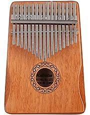 Professionele Kalimba thumb piano 17 key thumb piano, met pocket tuning hamer leerboek sticker, muziekinstrument cultiveren voor muziekliefhebbers kinderen volwassenen beginners