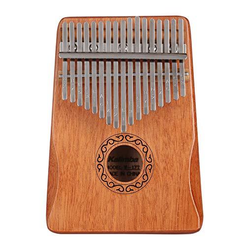 Professionelle Kalimba Daumenklavier 17 Schlüssel Thumb Piano, mit Tasche Stimmhammer Lehrbuch Aufkleber, Musikinstrument Kultivieren für Musikliebhaber Kinder Erwachsene Anfänger