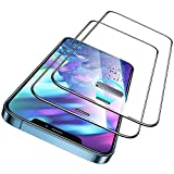 ESR 2 Pack Protector de Pantalla Compatible con iPhone 12/12 Pro, Cristal Templado ultrarresistente con Protector Altavoz Integrado, Soporta 50 KG de Fuerza, 3D Cobertura Completa