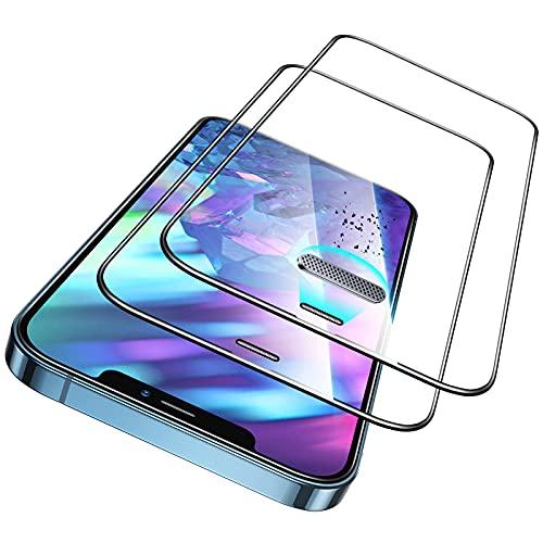 ESR Armorite 2er Pack Display Panzerglas kompatibel mit iPhone 12 und iPhone 12 Pro, robuster Hartglas Displayschutz mit Lautsprecherabdeckung