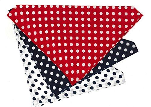 Fishermen Nickituch Polka Dots Rot Größe 53 x 53 cm