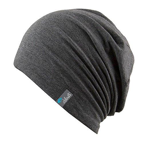 CHILLOUTS, Lange Beanie-Acapulco-Mütze für Erwachsene Einheitsgröße - Dark Grey