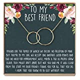 Best Friend Necklace - Heartfelt Card & Jewelry Gift for Birthday, Holiday, More...