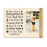 """Majestic Zen's 5"""" x 7"""" Dog Memorial Picture Frame- Holds 3"""" x 4"""" Photo 