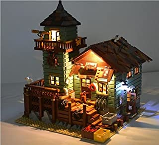 brickled Lighting kit for Lego Ideas Old Fishing Store 21310 ( Lego Set not Included)