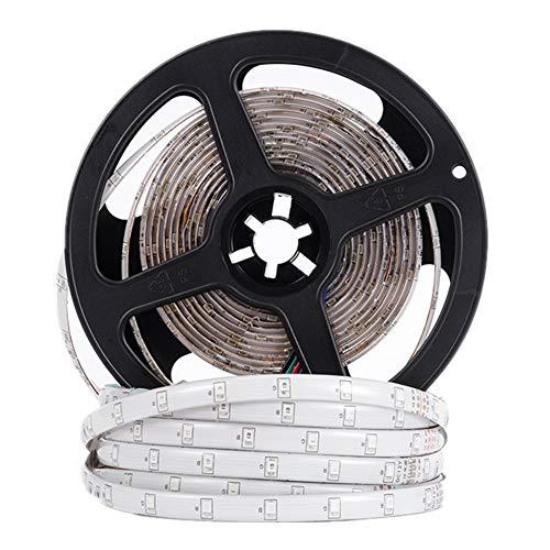 La Tira llevada 2835 5050 SMD con 60 Leds/M Impermeable 12v Cinta llevada Flexible de la Cinta Luces Led Tira de la decoración Dormitorio de Cocina para el Hogar (Color : RGB, Size : 2835 LED)