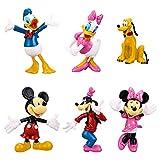 6 Piezas Mickey Cake Topper, Mini Figures Set Mickey Decorativas para Tartas Minnie Cake Decoration Acción Figuras para Mickey Tema Fiesta de Cumpleaños Baby Shower