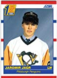1990-91 Score & Rookie Traded Pittsburgh Penguins 1991 Stanley Cup Champs Team Set with 2 Jaromir Jagr RC & 2 Mario Lemieux - 26 NHL Cards. rookie card picture